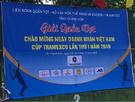 Công ty Tramexco Thanh Hóa tổ chức giải quần vợt Cúp Tramexco Thanh Hóa lần thứ I năm 2018